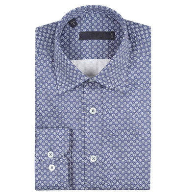 CEO Slim Fit Shirt in Royal - Ron Bennett Menswear  - 2
