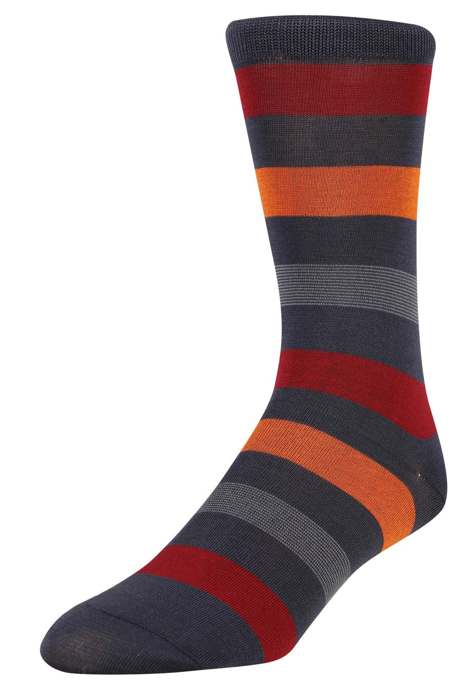 Ron Bennett Socks in Stripe Red