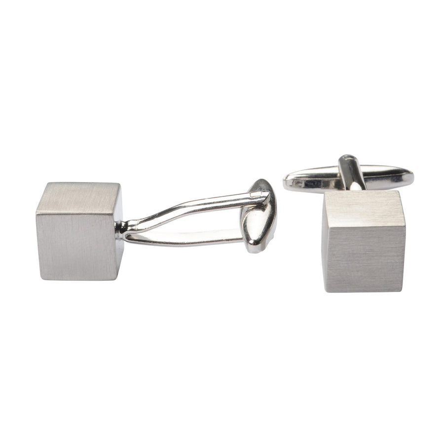 Bennett Signature Cufflinks in Silver - Ron Bennett Menswear