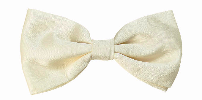 Bennett Signature Stay Handsome Bow Tie Ivory - Ron Bennett Menswear