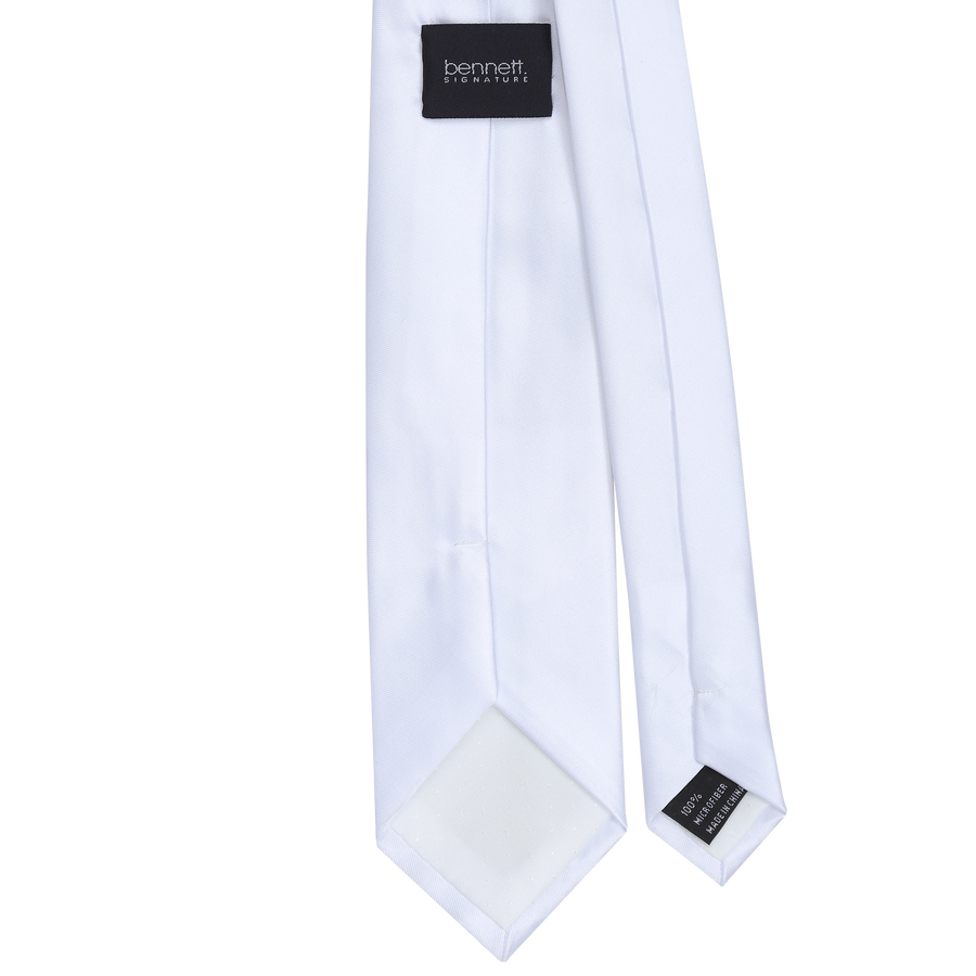 Ron Bennett Long Tie in White