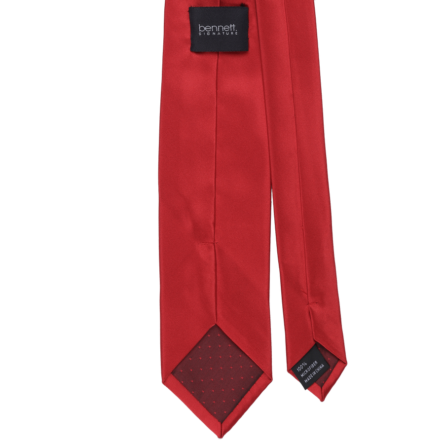 Ron Bennett Long Tie in Red