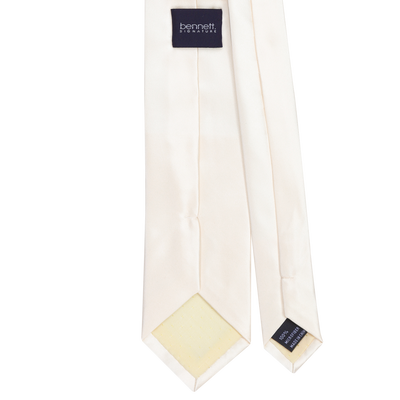 Ron Bennett Long Tie in Ivory