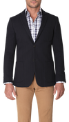 Bennett Signature Herringbone Jacket in Navy - Ron Bennett Menswear  - 5