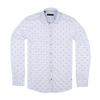 CEO Slim Fit Smart Casual Shirt in White Dot - Ron Bennett Menswear  - 1