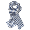 James Derby Italia Linen Scarf in Navy - Ron Bennett Menswear