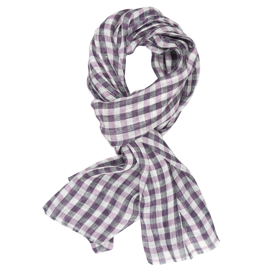 James Derby Italia Linen Scarf in Mauve