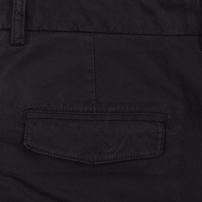 Bennett Stretch Washed European Cotton Chino in Black - Ron Bennett Menswear  - 3