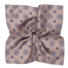 James Derby Silk Pocket Square in Floral Brown
