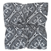 James Derby Silk Pocket Square in Paisley Black