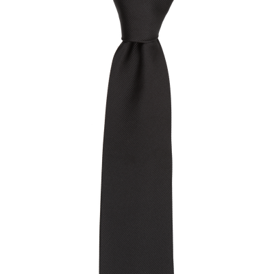 CEO Made In Italy Tie in Black - Ron Bennett Menswear  - 1
