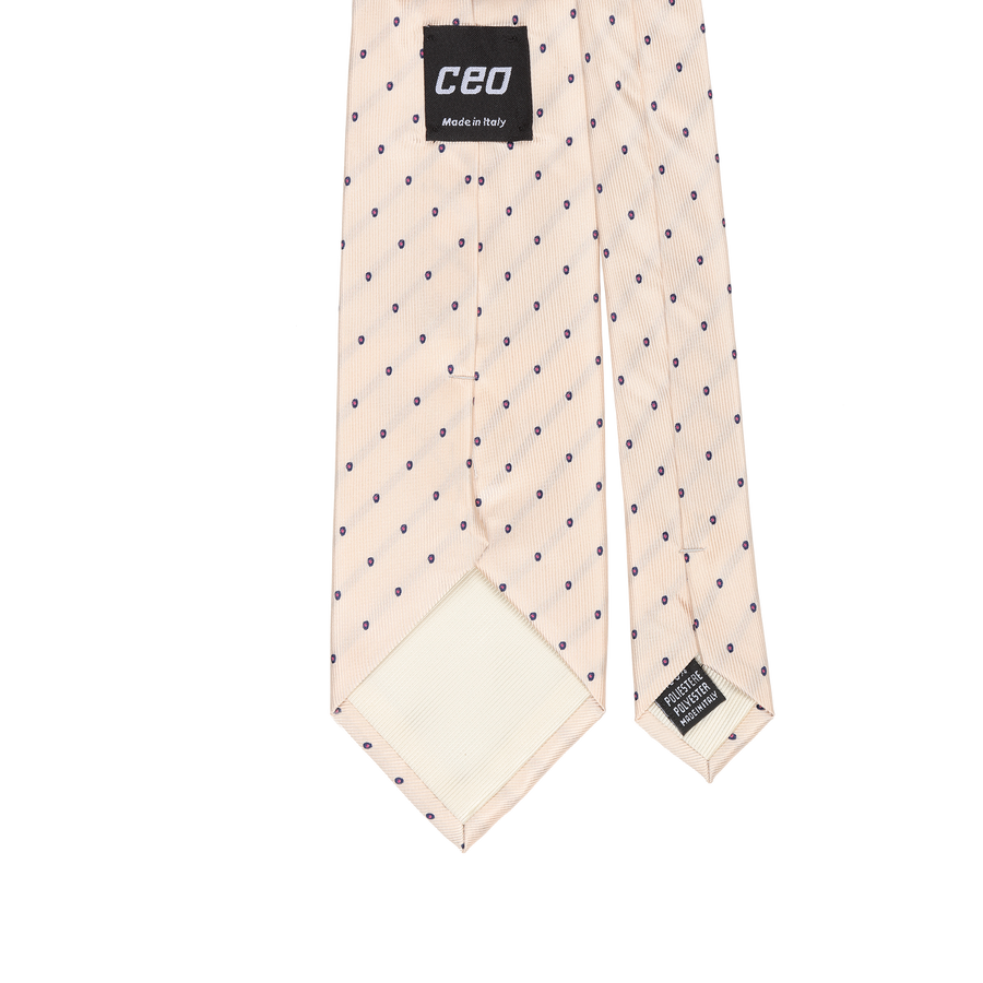 CEO Made In Italy Tie in Beige - Ron Bennett Menswear  - 1