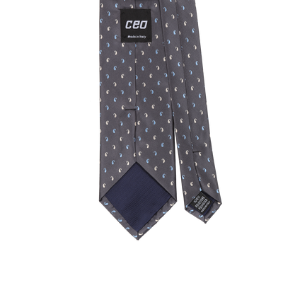 CEO Made In Italy Tie in Charcoal - Ron Bennett Menswear  - 2