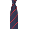 CEO Made In Italy Tie in Navy Stripe - Ron Bennett Menswear  - 1