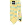 CEO Made In Italy Tie in Yellow / Cyan Dot - Ron Bennett Menswear  - 2