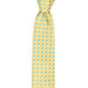 CEO Made In Italy Tie in Yellow / Cyan Dot - Ron Bennett Menswear  - 1