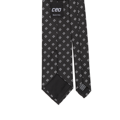 CEO Made In Italy Tie in Black - Ron Bennett Menswear  - 2