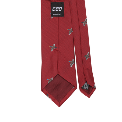 CEO Made In Italy Tie in Red Goose - Ron Bennett Menswear  - 2