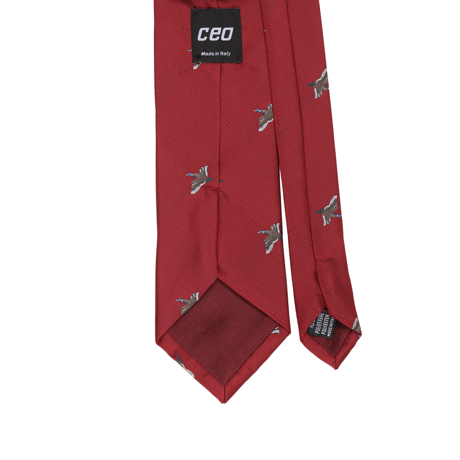CEO Made In Italy Tie in Red Goose - Ron Bennett Menswear  - 1