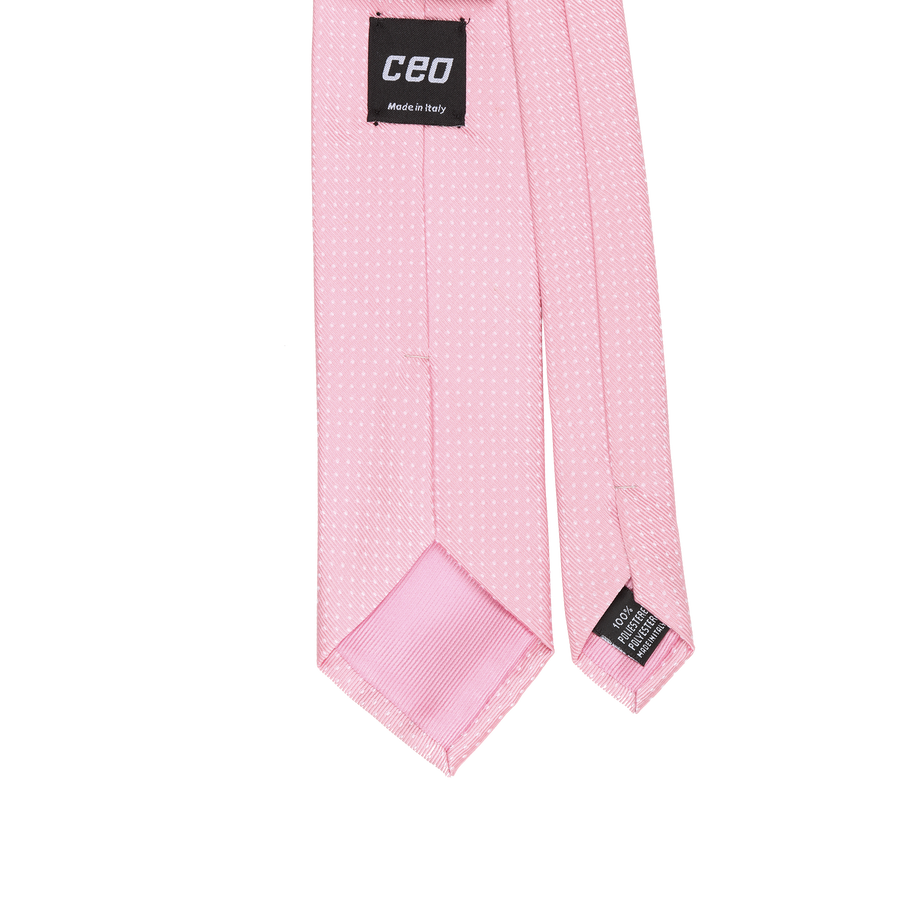 CEO Made In Italy Tie in Pink - Ron Bennett Menswear  - 1