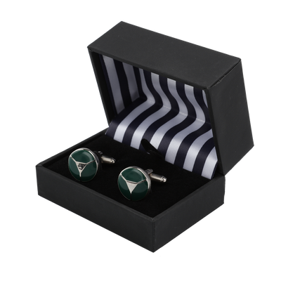 Ron Bennett Cufflinks in Green - Ron Bennett Menswear  - 2