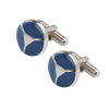 Ron Bennett Cufflinks in Cobalt - Ron Bennett Menswear  - 1