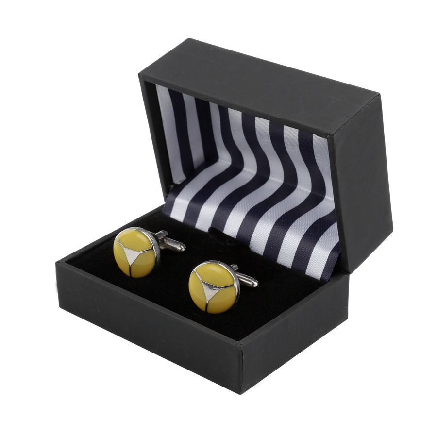 Ron Bennett Cufflinks in Yellow - Ron Bennett Menswear  - 1