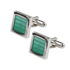 Ron Bennett Cufflinks in Green - Ron Bennett Menswear  - 1