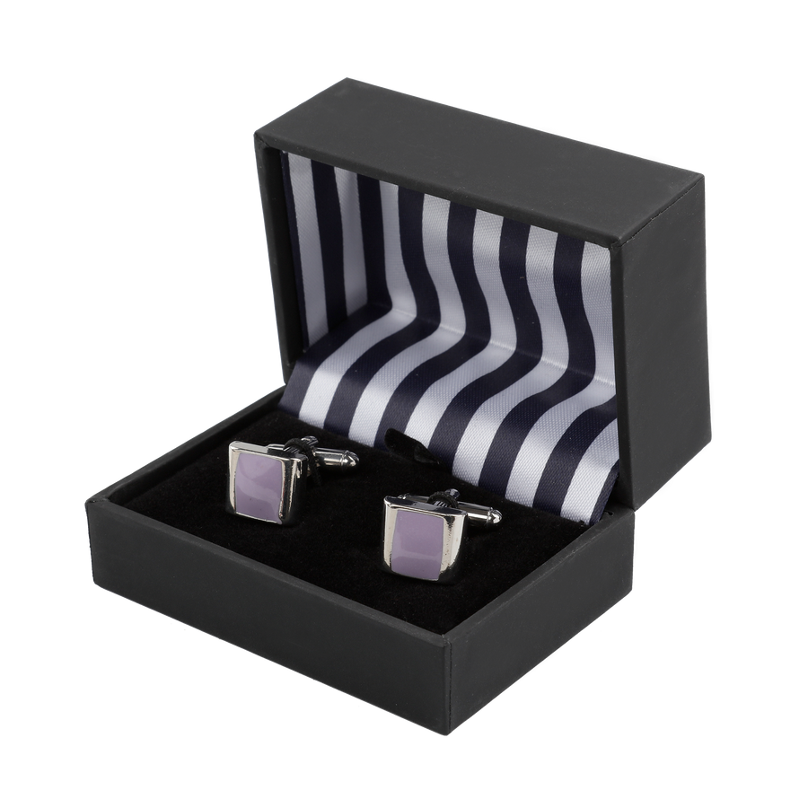 Ron Bennett Cufflinks in Mauve - Ron Bennett Menswear  - 1