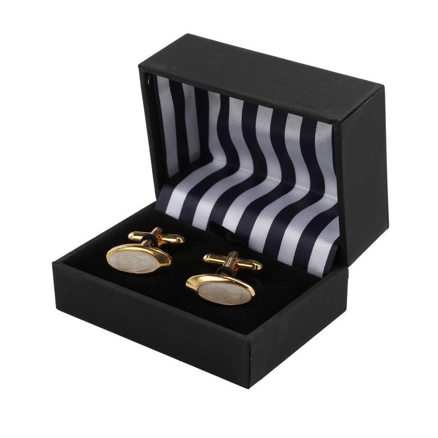 Ron Bennett Cufflinks in Ivory - Ron Bennett Menswear  - 1
