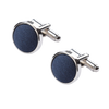 Ron Bennett Silk Cufflinks in Navy - Ron Bennett Menswear  - 1