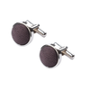 Ron Bennett Silk Cufflinks in Aubergine - Ron Bennett Menswear  - 1