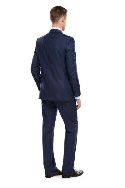 Bell & Barnett Slim Fit Suit in Navy - Ron Bennett Menswear  - 3