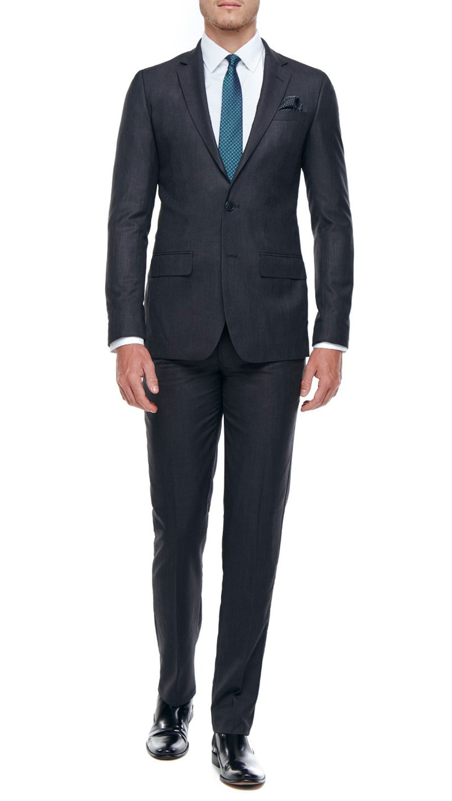 Marcellotino Slim Fit Suit in Charcoal.