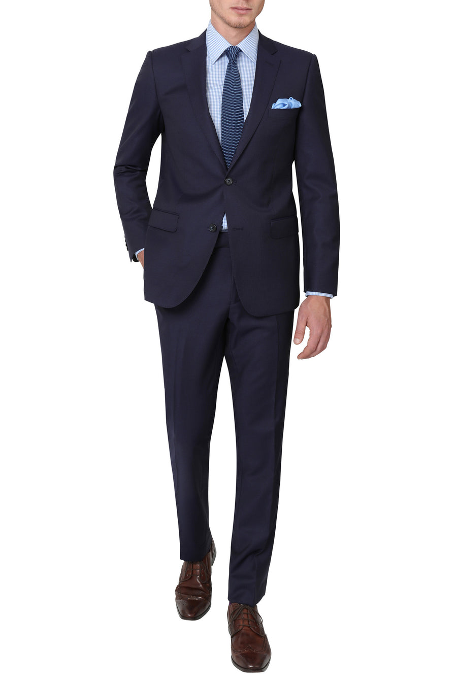 Studio Italia Suit in Blue Stripe