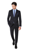 Hugo Boss James / Sharp Suit in Dark Blue - Ron Bennett Menswear  - 2