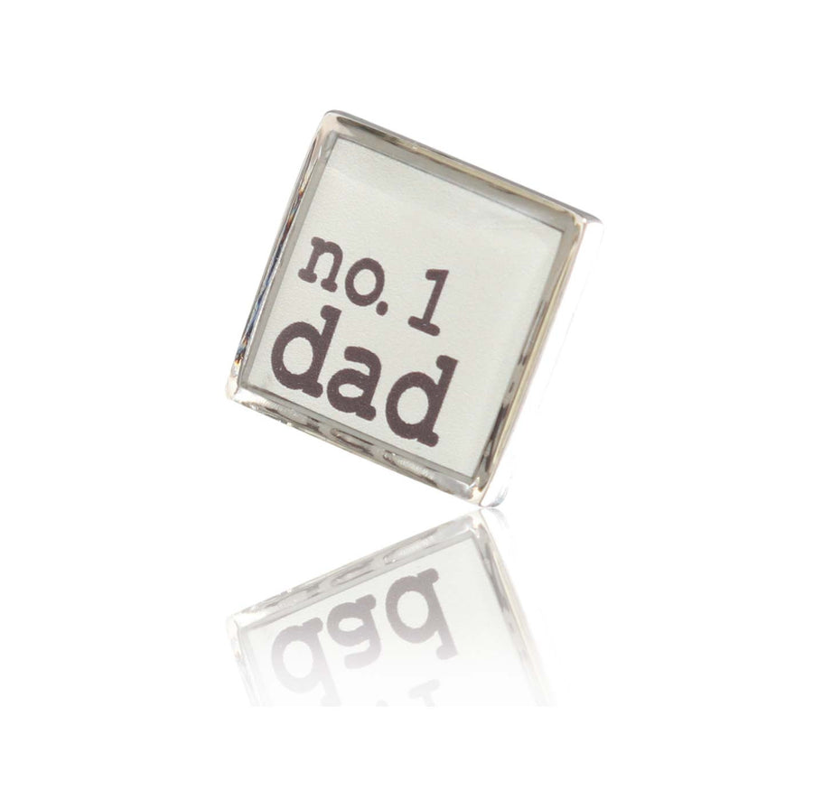 Personalised Small Logo Square Silver Lapel Pin - Ron Bennett Menswear