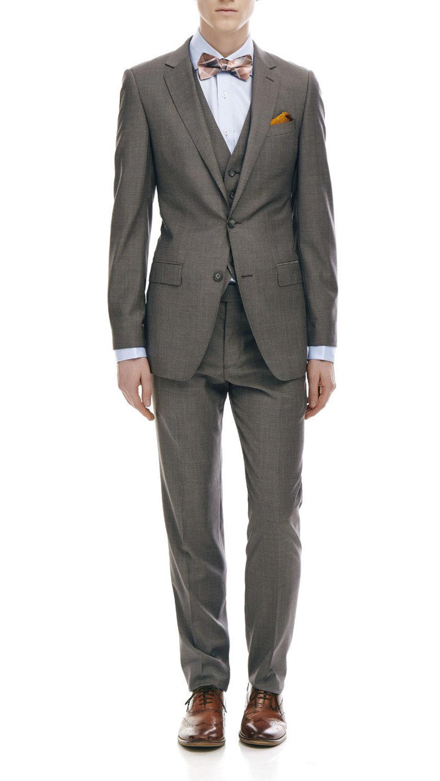"Bell & Barnett Slim Fit ""Maurice"" Suit in Charcoal"