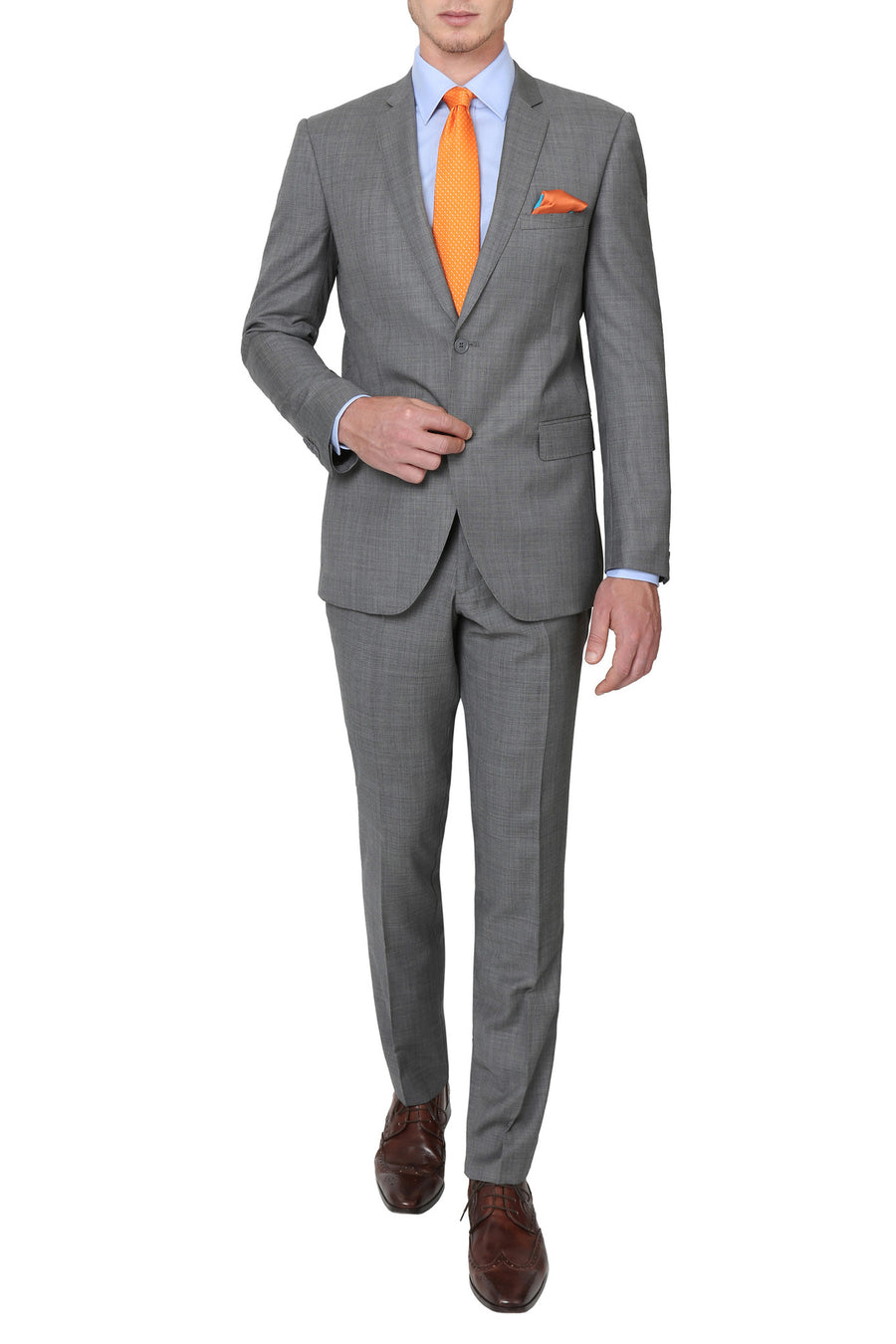 Studio Italia T421 Curtis Suit in Mid Grey