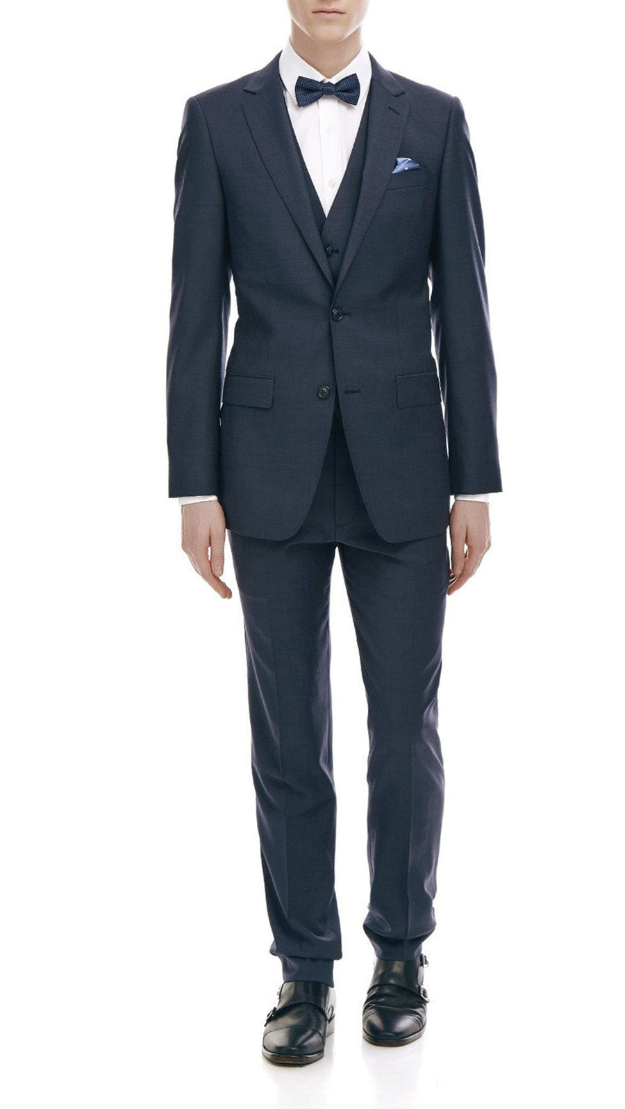 "Bell & Barnett Slim Fit ""Maurice"" Suit in Navy"