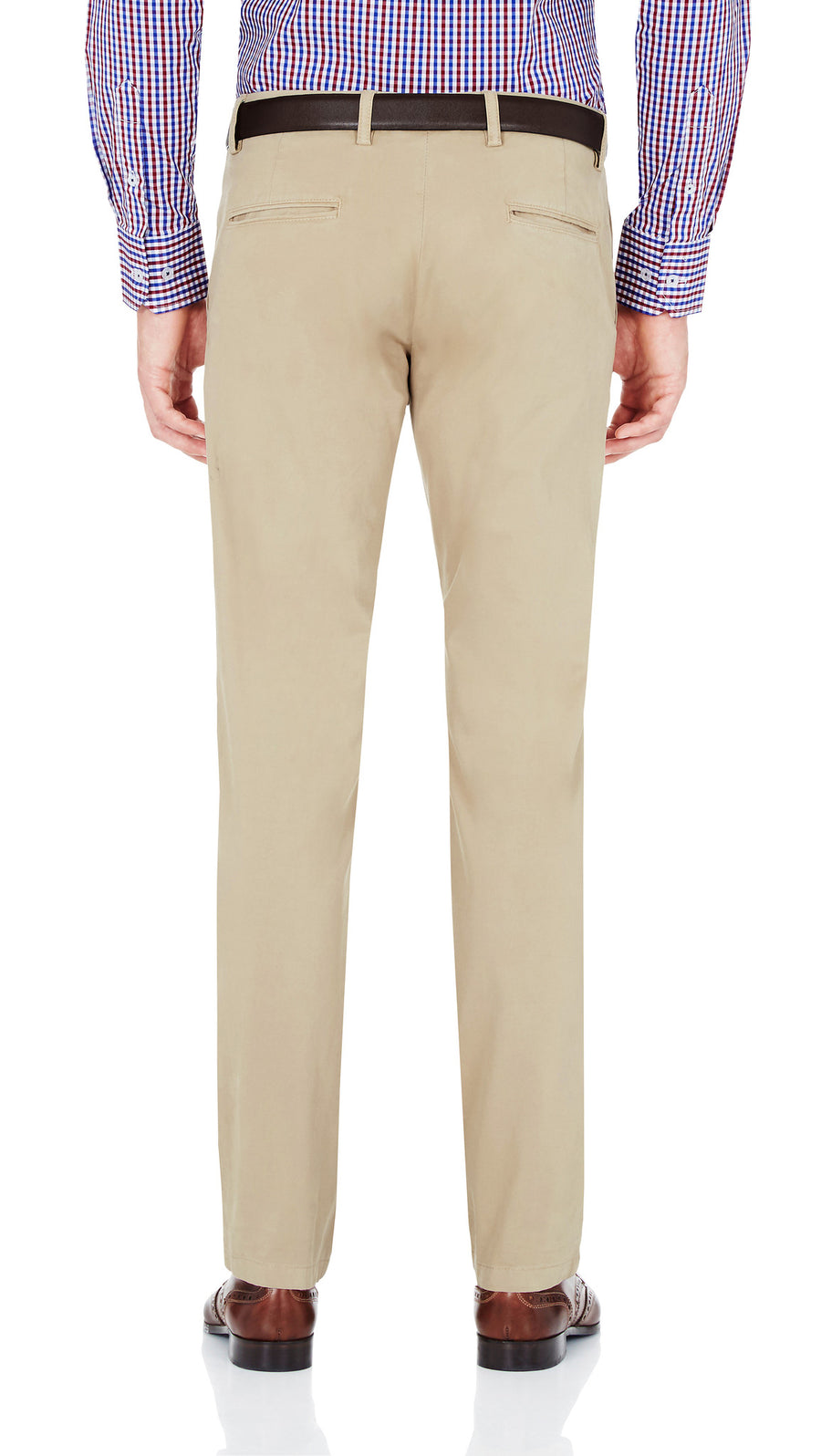 Bennett Stretch Washed European Cotton Chino in Beige