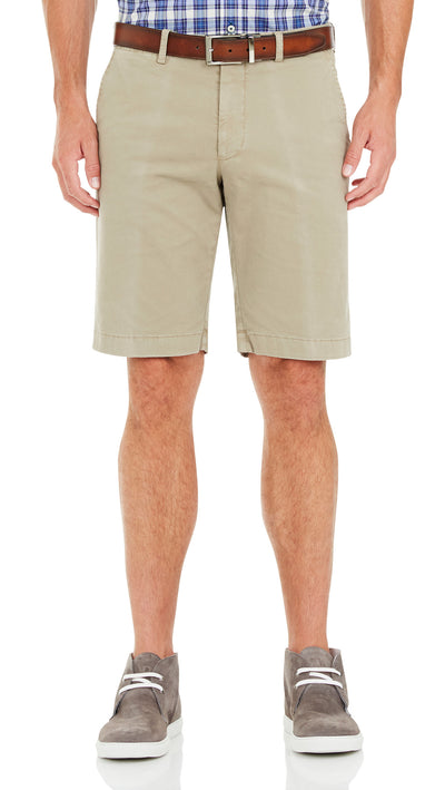 Bennett Cotton Shorts in Taupe - Ron Bennett Menswear  - 3