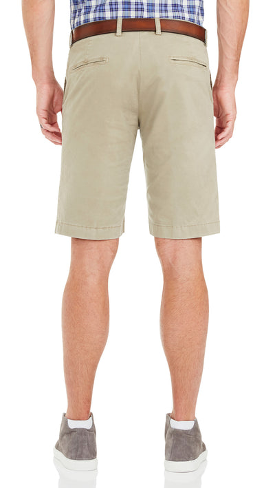 Bennett Cotton Shorts in Taupe - Ron Bennett Menswear  - 4