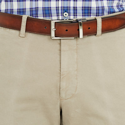 Bennett Cotton Shorts in Taupe - Ron Bennett Menswear  - 5