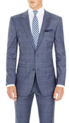 Nicholby & Harvard Brompton Suit in Blue Check - Ron Bennett Menswear  - 3