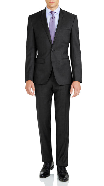 Grey Slim Fit Performance Suit for School Formals - Ron Bennett Menswear  - 1
