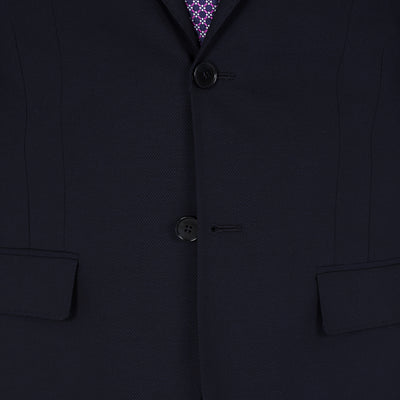 Blackjacket Skinny Fit Suit in Blue Birdseye - Ron Bennett Menswear  - 5