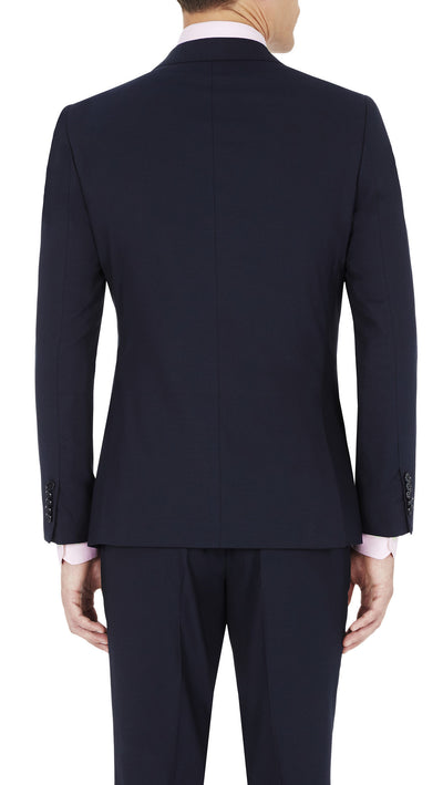 Blackjacket Skinny Fit Suit in Blue Birdseye - Ron Bennett Menswear  - 4