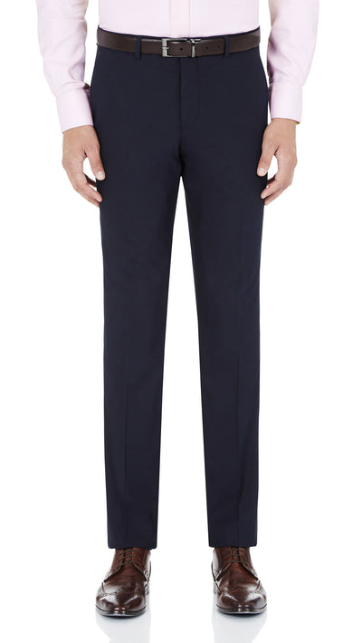 Blackjacket Skinny Fit Suit in Blue Birdseye - Ron Bennett Menswear  - 6