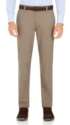 Bennett Cotton Chinos in Oak - Ron Bennett Menswear  - 1